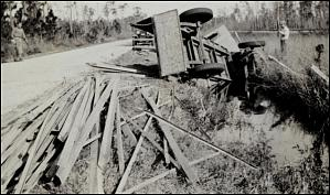 Overturned truck, from public domain